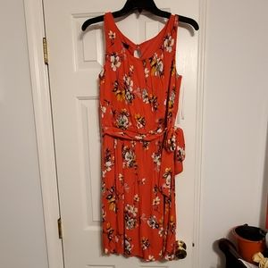 Coral Floral Dress. NWT